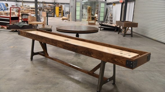 Astoria Rustic Shuffleboard Table   Man Cave Decor   Bar Decor   Rustic  Home Decor   Gaming Table