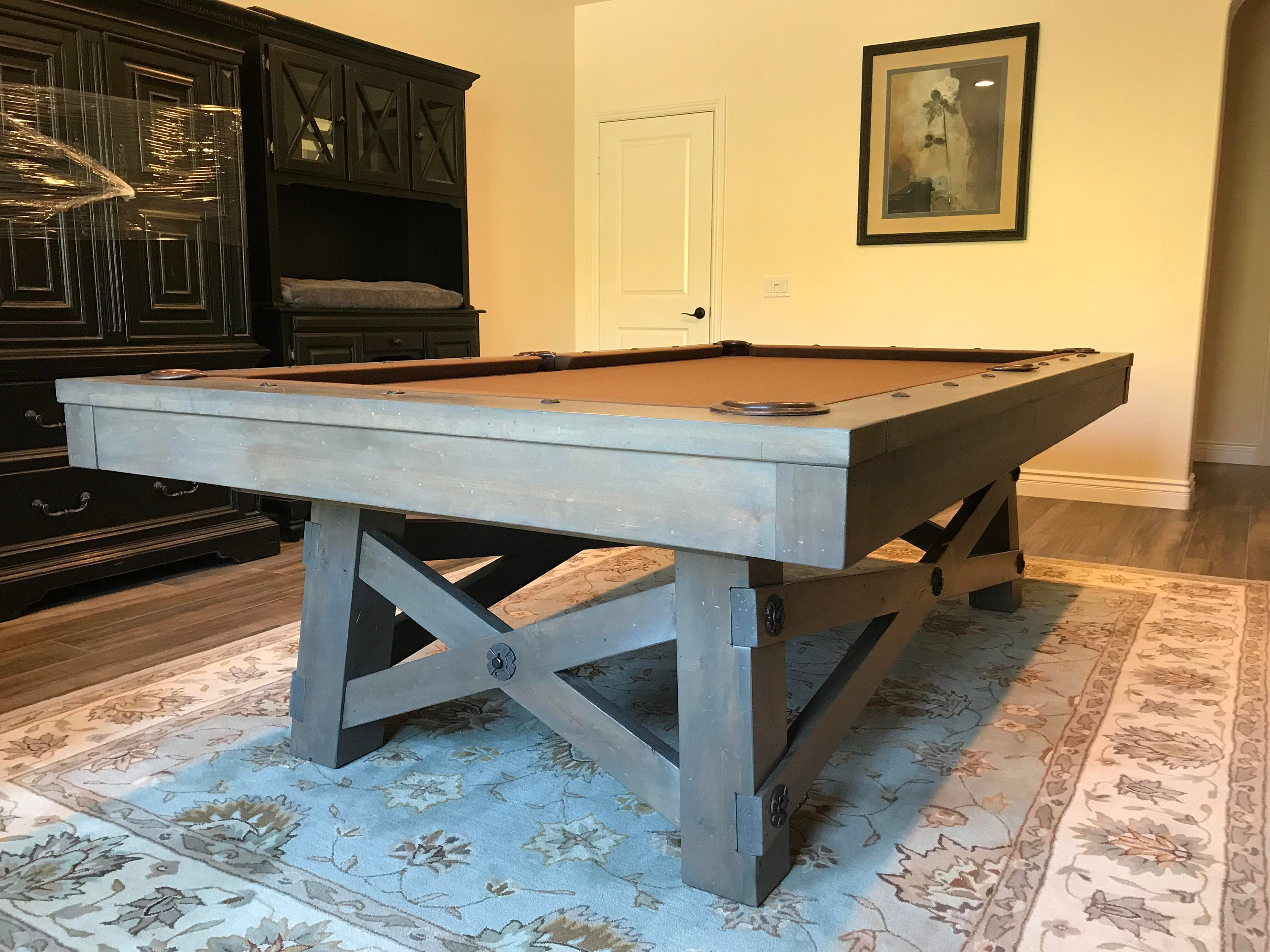 Billiards Pool Table Pool Game Man Cave Mancave Decor Game Room - How much room is needed for a pool table