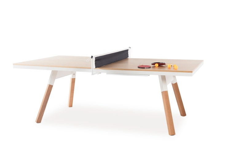 Superb Table Tennis Ping Pong Game Room Oak Dining Table Office Furniture Office Space Mancave Decor Man Cave Bachelor Pad Loft Decor Download Free Architecture Designs Aeocymadebymaigaardcom