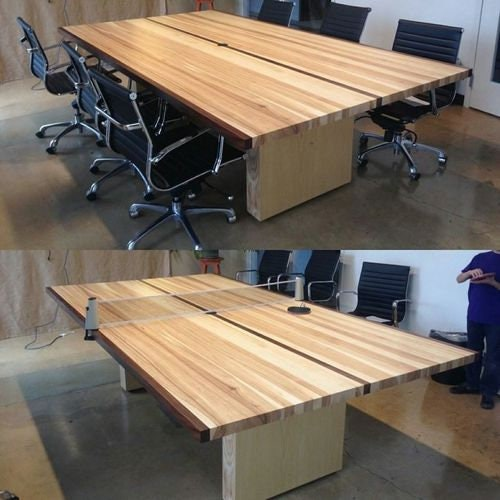 Maple Table Tennis Table Tennis Dining Conference Game - Handmade conference table