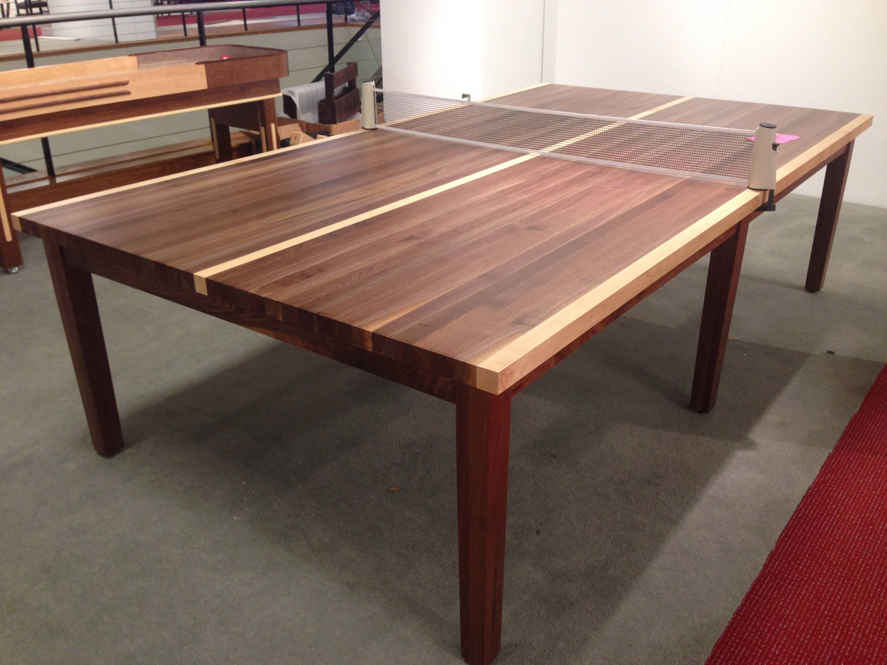 Bon Custom Wood Ping Pong Table Table Tennis Table Conference Table 2 In 1  Dining And Table Tennis Table With Retractable Net