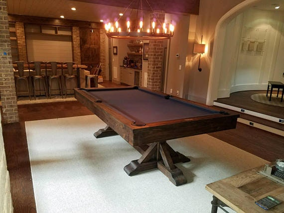 Modern Farmhouse Pool TableRustic Thomas Pool Table Dining Table - Modern slate pool table