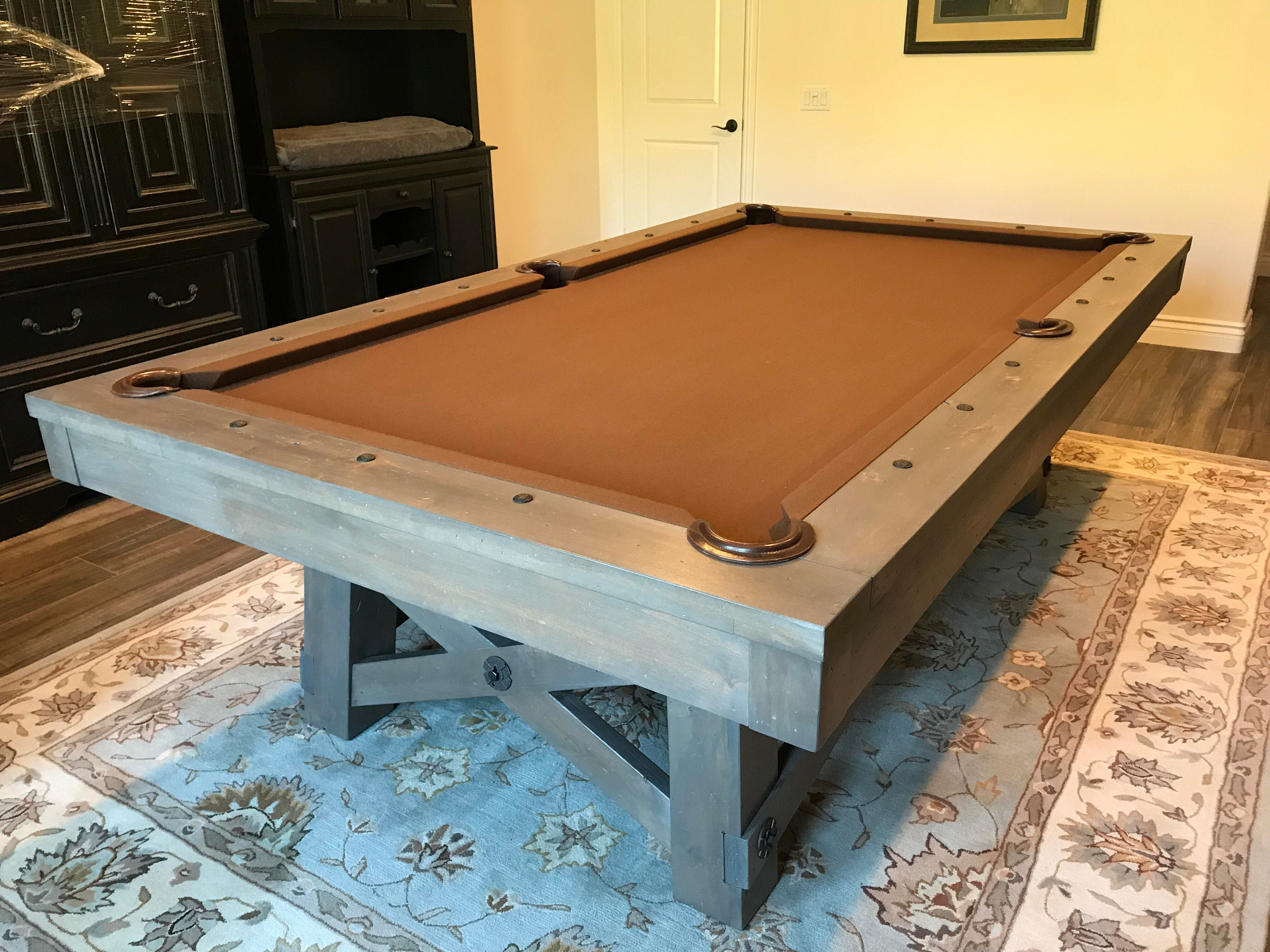 Billiards Pool Table Pool Game Man Cave Mancave Decor Game Room - Pool table in garage