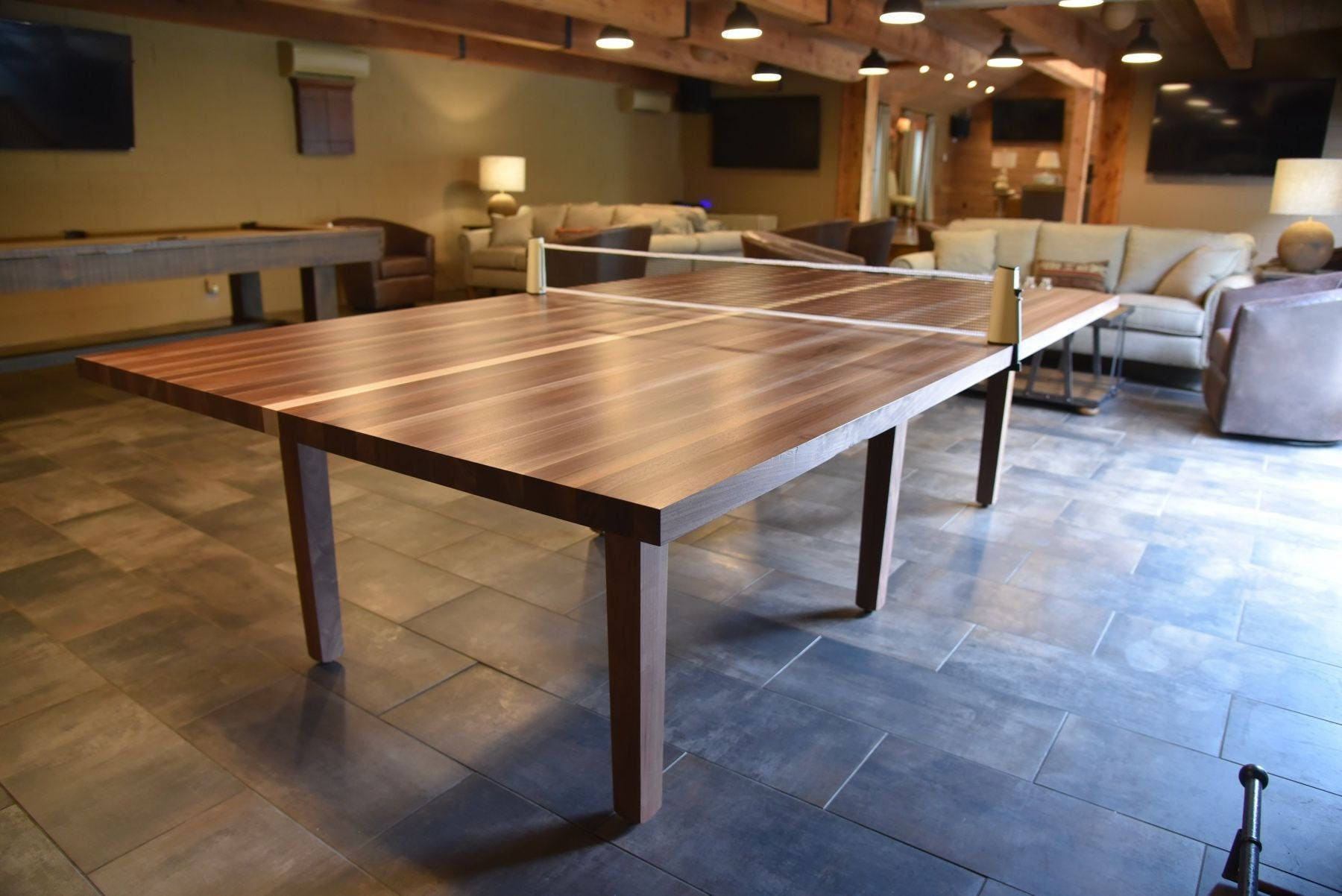 Incroyable Custom Wood Ping Pong Table Table Tennis Table Conference Table 2 In 1  Dining And Table Tennis Table With Retractable Net