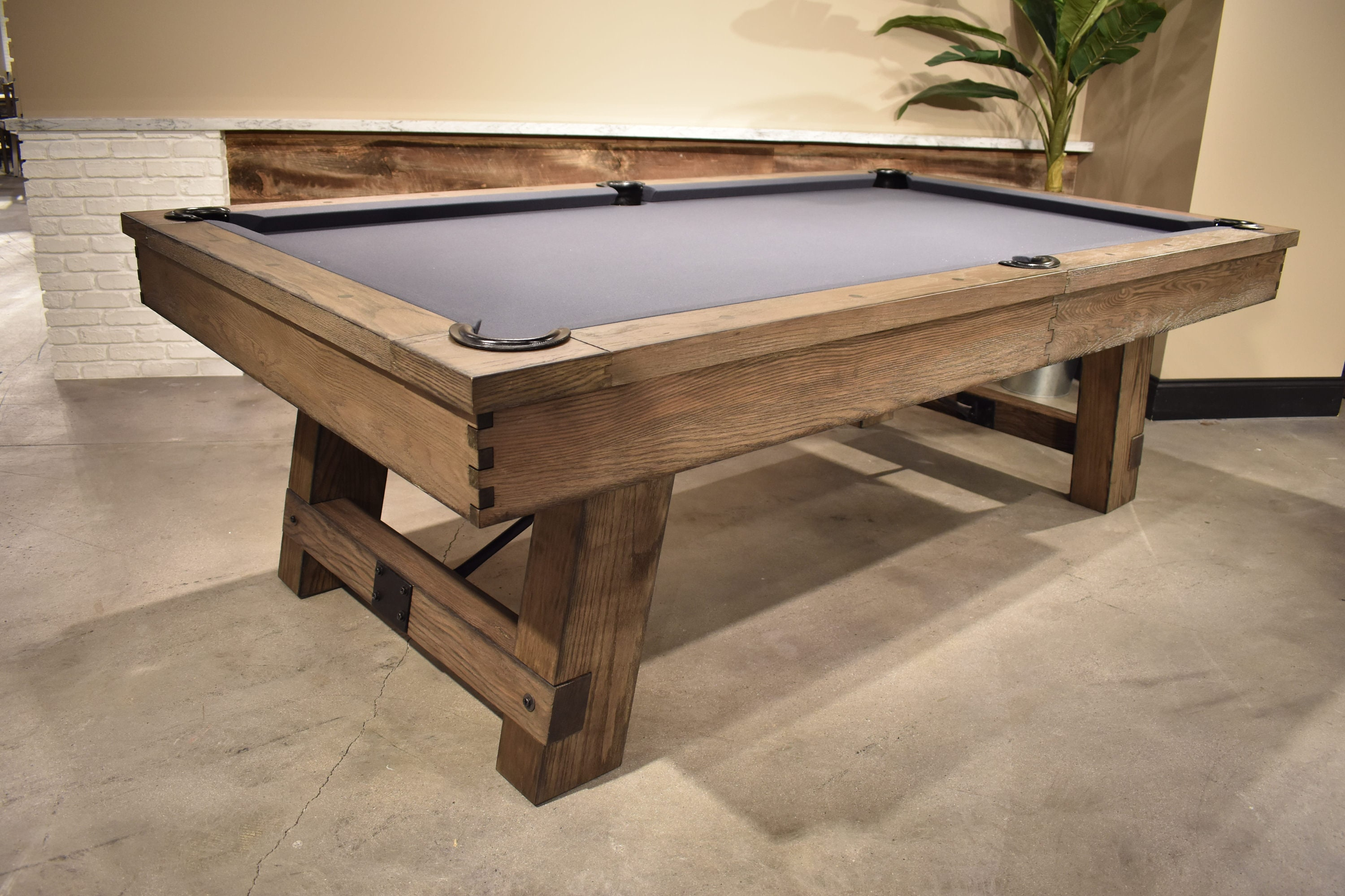 Reclaimed Pool Table Oak Wood Design Game Tables Modern