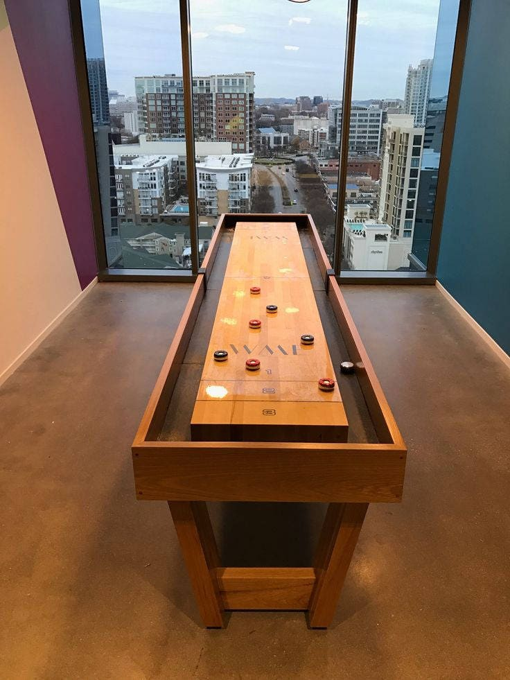 Custom Shuffleboard Table Office Furniture Commercial Bar
