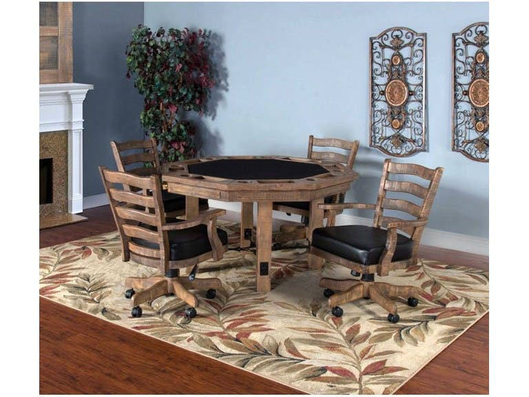 Poker Table Game Table With Chairs Billiards Game Room Decor Game Room  Furniture Gaming Table Pool Tables Shuffleboards