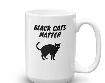 Black Cats Matter Coffee Mug for Cat Lovers