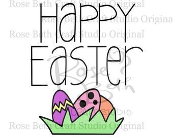 Happy Easter SVG PNG JPG Digital File Easter Cut File