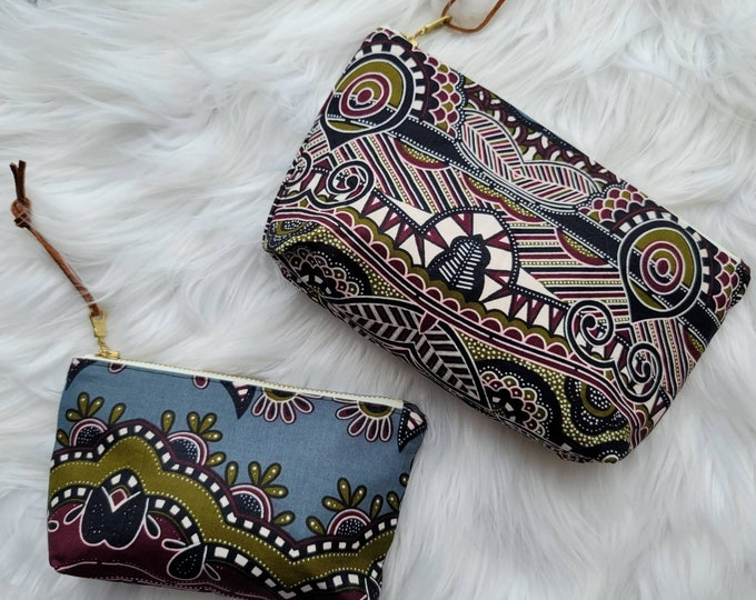 Featured listing image: African wax print zippered pouch | Makeup Bag | Coin Purse | Small Wallet
