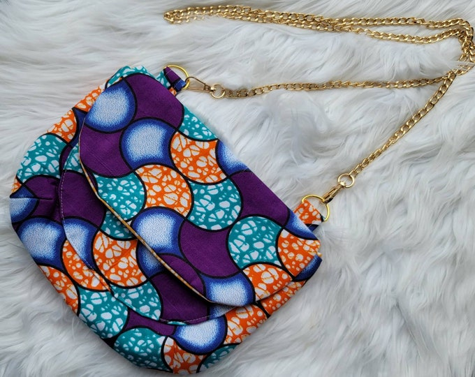 Featured listing image: African wax print cross body bag | Minimalist cross body | Small purse | Simple purse