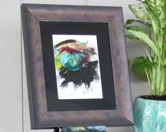 Abstract Eye- Framed Oil Painting- Oil on Paper
