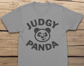 Judgy Panda Unisex T-Shirt, Cool Shirt, Funny Shirt, Cute Panda