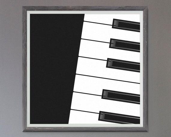 Piano Keyboard Wall Art Music Wall Decor Piano Art Music | Etsy