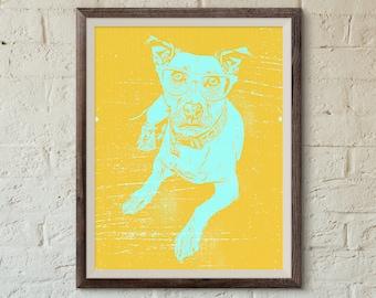 Dog Wearing Glasses Wall Art, Dog Decor, Dog Poster Print, Dog Theme, Bedroom Art, Nursery Art, Cute Poster