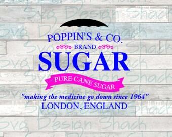 Poppin's Sugar Company SVG, DXF, EPS, Studio 3, Png