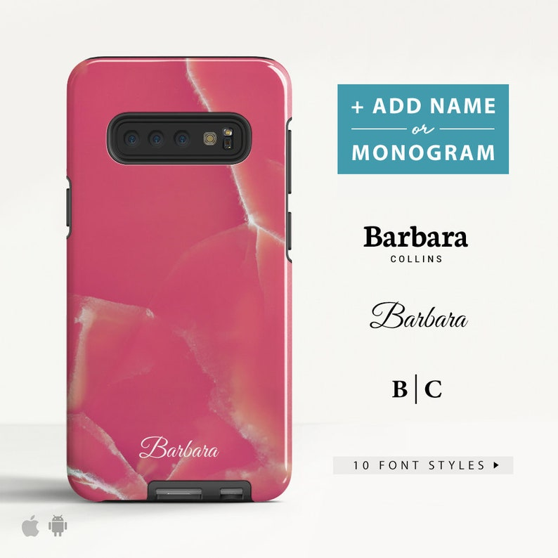 Marble Samsung Galaxy S10 Plus S10e case Galaxy S9 Galaxy S8 A8 A5  Protective Phone case Custom Name case for Samsung  (MB10)