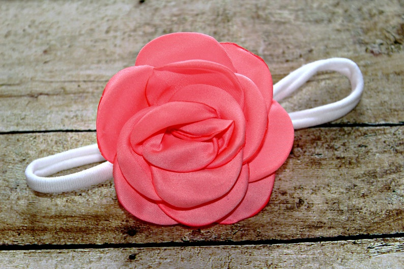 newborninfant Nylon flower headband
