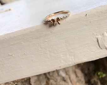 pinky ring, above knuckle ring, silver ring, gold ring,stacking ring, ring, friendship ring, bridesmaid ring, bow ring,