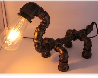 gas pipe lighting pipe track gas pipe animal lamp etsy
