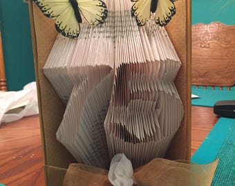 Custom Made Book Art - Any two numbers