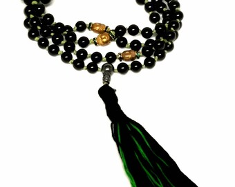 Black Onyx Buddha Mala