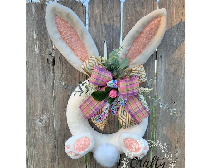 Easter Wreath, Easter Bunny Wreath, Bunny Wreath, Easter Decor, Bunny Door Hanger, Spring Wreath, Spring Easter, Bunny Butt