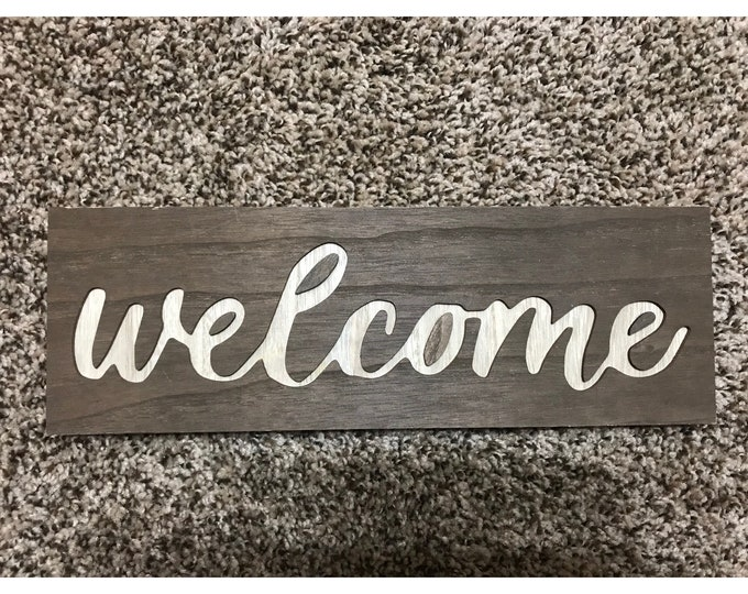 Valentine's Day Decor, Welcome sign, welcome decor, sign for wreath, wreath attachment, Wooden sign