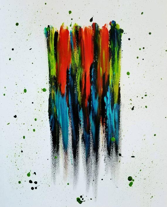Abstrakte Malerei Moderne Zeitgenossische Expressionismus Etsy