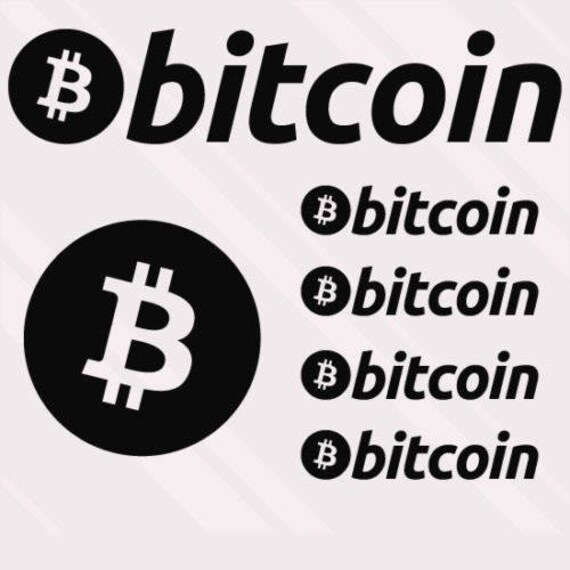 Bitcoin Logo Cryptocurrency Vinyl Decal Car Sticker Wall CHOOSE SIZE COLOR