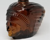 Avon Aftershave Bottle, Indian Chief, Native American Decor
