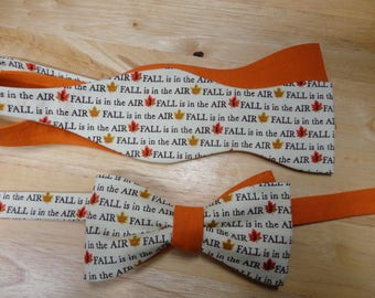 Self-tie Bow Tie Autumn Fall colors Thanksgiving Great Gift b4g1 Made in America