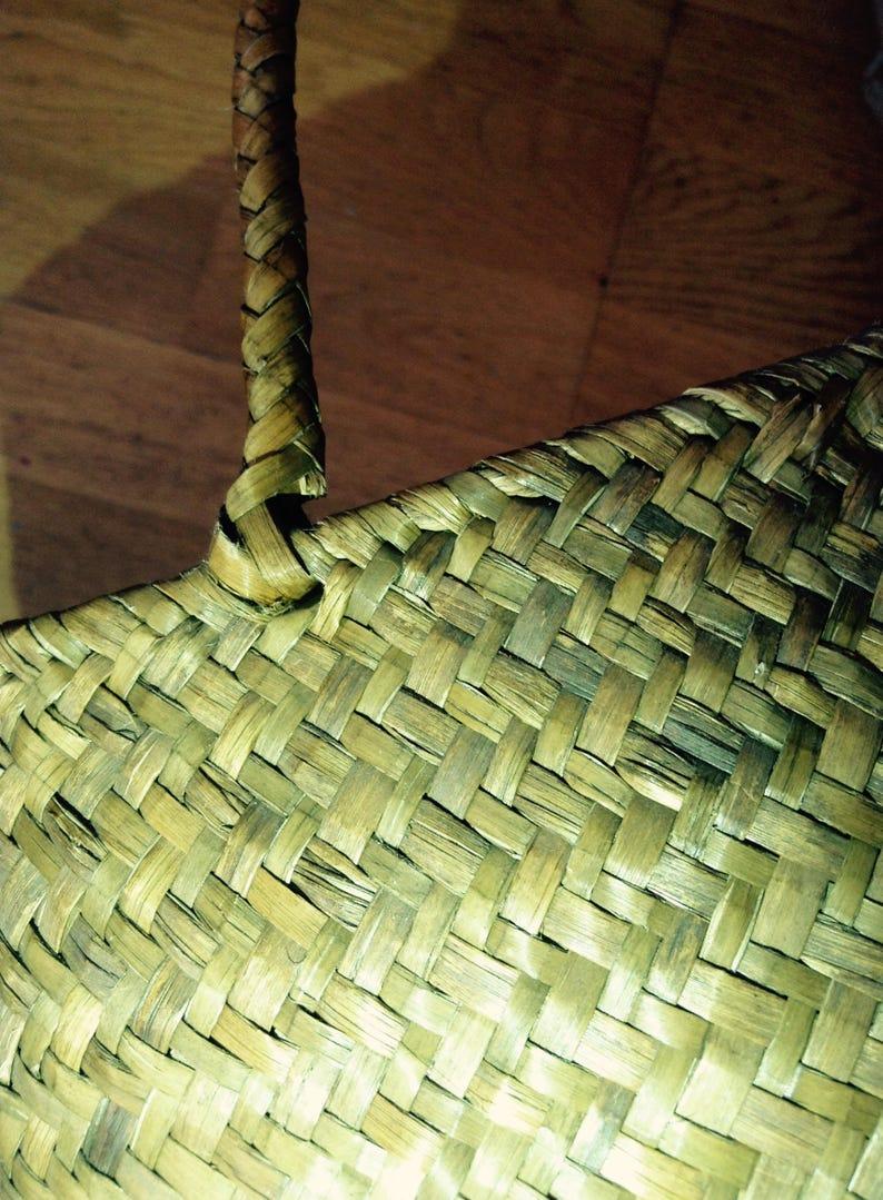Vintage Straw Weaved Picnic Tote Bag