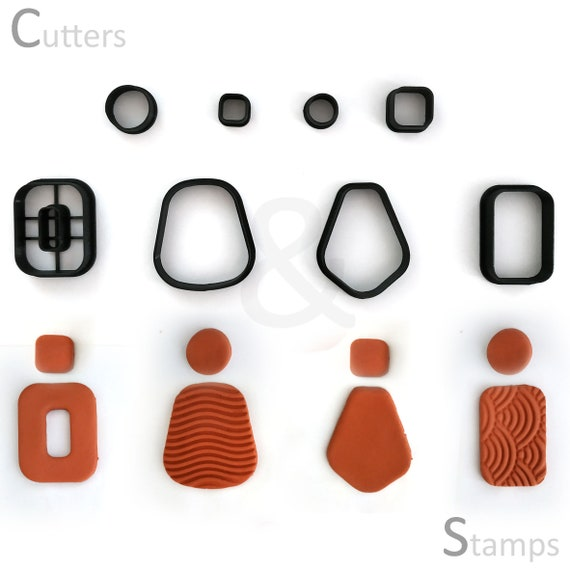 Set of 10 mini cutters Dot clay cutters Clay tools. Polymerclay tools