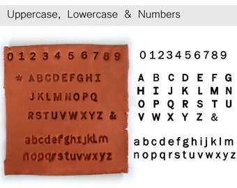 8mm (0.3 Inch) Uppercase, Lowercase & Numbers Clay stamps   Alphabets stamps for clay   Clay Stamps for deep imprints  