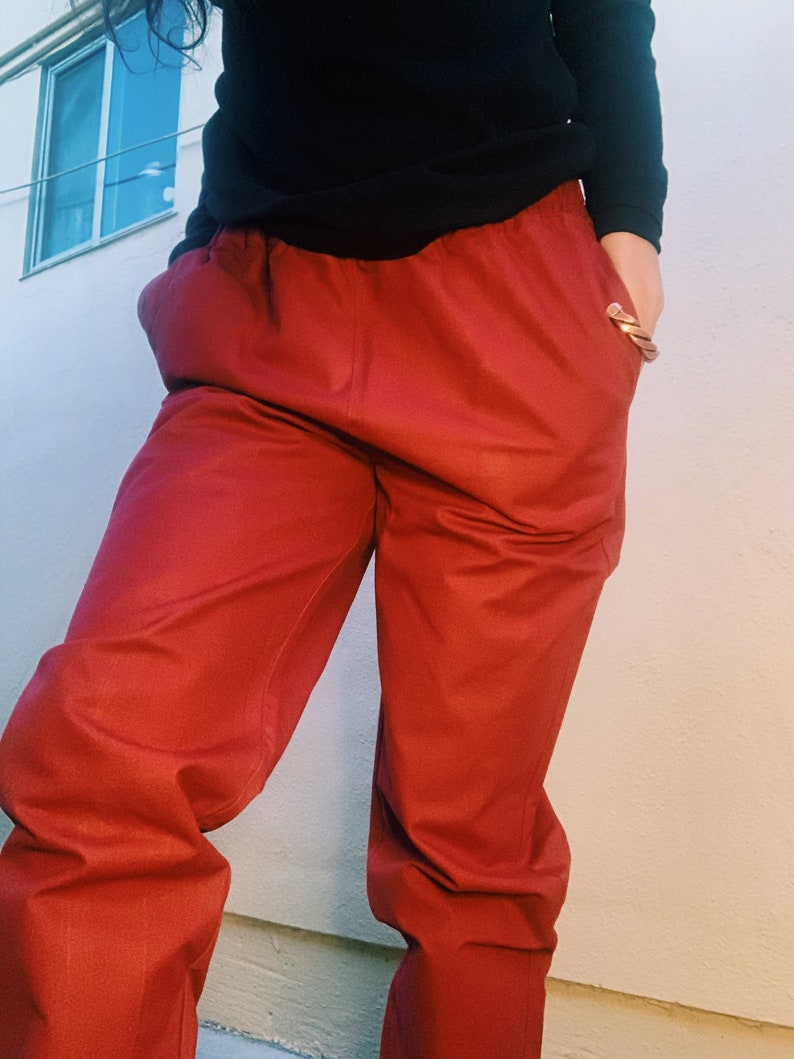 The Canvas Pants Brick Red Sizes S-XL