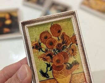 Van Gogh / The Scream / Mona Lisa / Starry Night / The Kiss / Birth of Venus /  Monet - Fridge Magnets