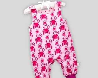 Romper monkey gang with snaps