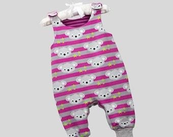 Romper Koala Bears Pink with Snapbuttons