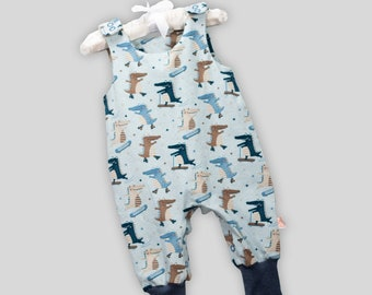 Organic romper crocodile party with snaps