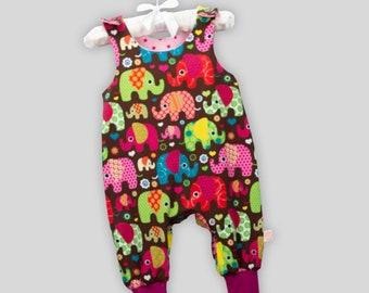 Baby Romper Elephant Colorful with Snaps