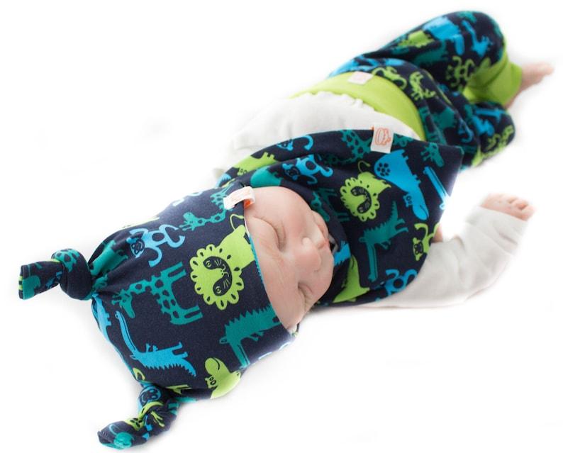 Baby Set: Zooworld in Dark Blue/Apple image 0