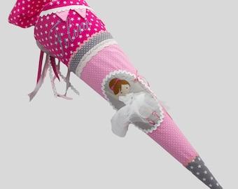 School Bag Ballerina Pink Pink Grey
