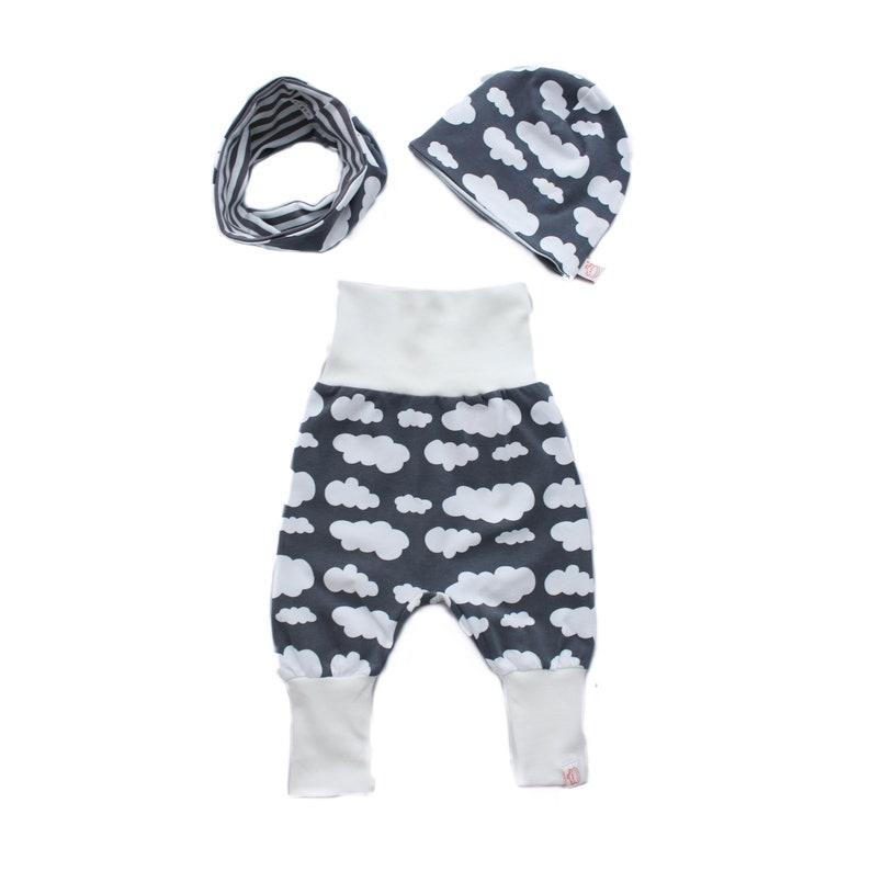 Baby set: ' Cloud love ' in Grau/white image 0