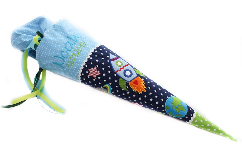 School bag rocket incl. astronaut  planet  earth image 0