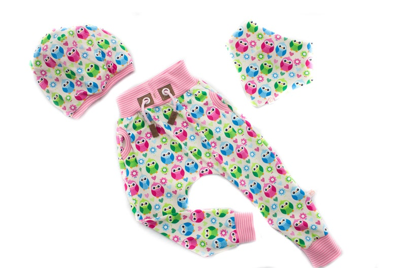 Baby set: ' Owl love ' in Pink/Rosa/White image 0
