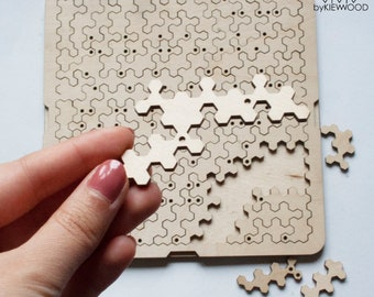 Custom wood fractal puzzle Chaos ,Anti stress puzzle for mental health,Personalized gift jigsaw.