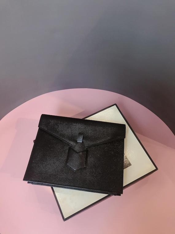 YSL - Vintage YSL Clutch - Black Leather - Fullbox