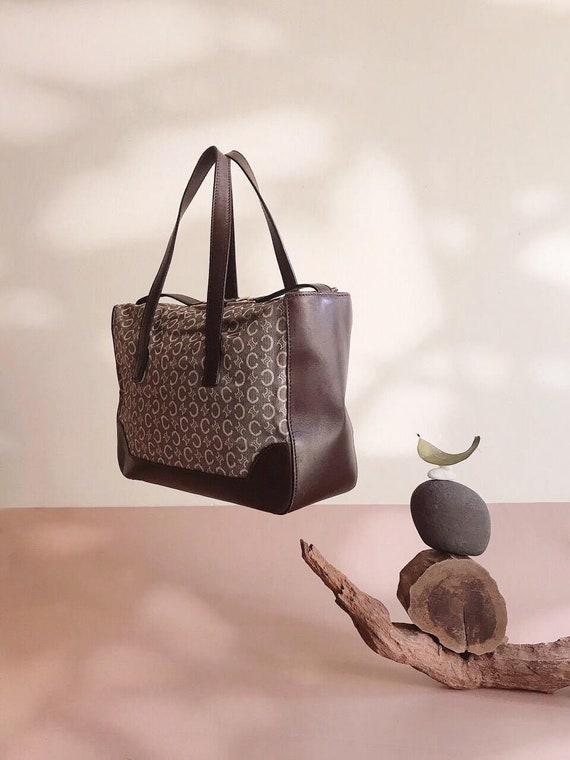 CELINE - Vintage Céline Monogram Canvas Handbag -