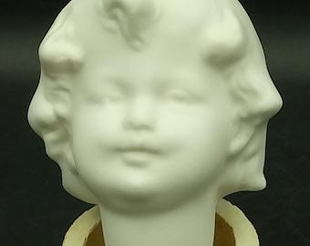 Porcelain, Cranish, Sharpbrand, Gebrüder Heubach Lichte - Girl - Head, smouldered, fired, for painting, glazing